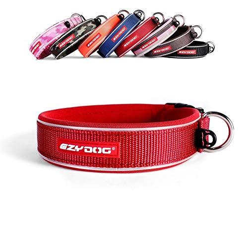 EzyDog Neo - Hundehalsband - Medium(39-44cm) - Rot