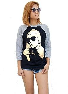 Blondie Debbie Harry T-Shirt 3/4 Sleeve Baseball Raglan Mens Womens Ladies Unisex