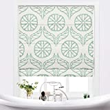 TWOPAGES Customized Roman Shade, Print Linen Roman Shade with Loop Control, Kitchen Window Door Roman Shade, Install Hardware Included (CS67924674)