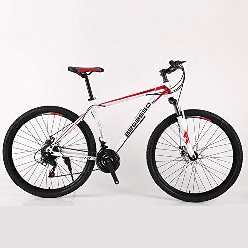 Hmcozy di Mountain Bike Uomini Hardtail Ruote da 29 Pollici Hardtail in Acciaio Alto tenore di Carbonio Mountain Bike,D,27 Speed