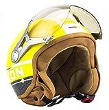 SOXON SP-325-PLUS Titanium · Vintage Vespa Bobber Cruiser Helmet Urban Urbano Scooter Casco...