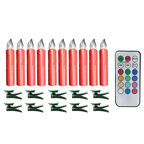Flameless Christmas Candles - Electric LED Fake Candle Lights with Remot for Seasonal and Festival Celebration