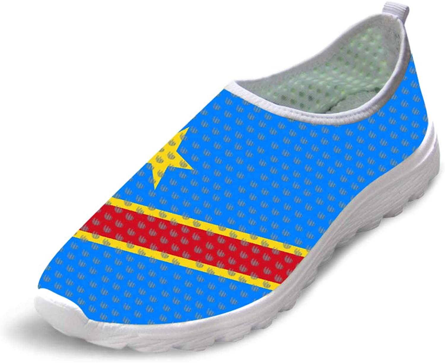 Owaheson Trail Runner Running shoes Casual Sneakers Democratic Republic of Congo Flag