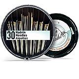 Nadelset mit 30 Nadeln in verschiedenen Stärken und Längen : stabil und vielseitig beim...