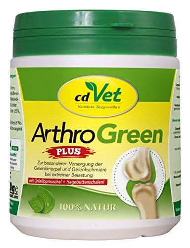 cdVet Naturprodukte ArthroGreen plus 330 g - unterstützt in akuten Phasen optimal Bewegungsapparate und die Gelenke - ernährungsbedingte Unterstützung - für die Festigkeit von Knochen und Knorpel -