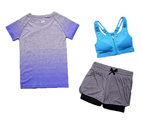 Black Temptation Women Athletic Gym Ensemble de vêtements de Yoga pour la Course à Pied
