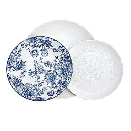 Cepriani Ricami&decori, Porcellana, Bianco-Bianco e Blu