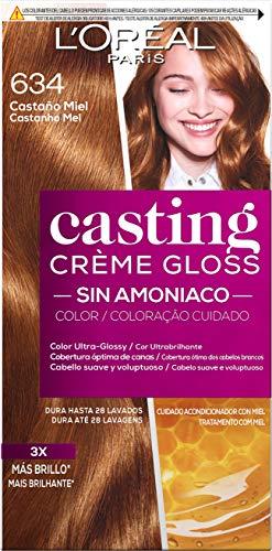 L\'Oreal Paris Casting Crème GlossColoración Sin Amoniaco, Tono: 634 Castaño Miel
