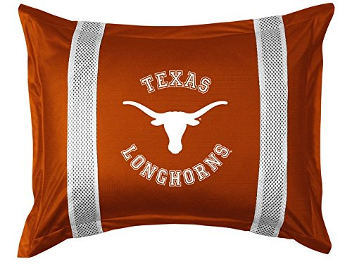 University of Texas Pillow Sham with Jersey Mesh