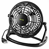 USB FAN - iKross USB Mini Desktop Office Fan with 360 Rotation - Black For PC Computer Laptop Chromebook Ultrabook