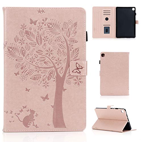 MIYING Galaxy Tab S6 Lite Protective Case PU Leather Case Card Slot Pen Holder Magnetic Tablet Case with Stand Function for Samsung Galaxy Tab S6 Lite 10.4 Inch 2020 SM-P610/SM-P615