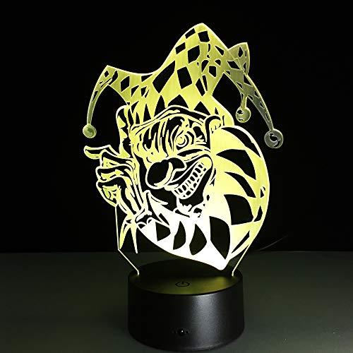 jiushixw 3D acryl nachtlampje met afstandsbediening kleurverandering tafellamp Wild Variant Holiday Mint Browns tafellamp