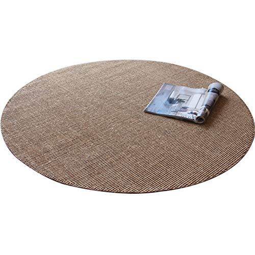 Jie KE Tapijt, rond tapijt, handgenaaid rond sisal tapijt eenvoudige studie woonkamer salontafel eettafel linnen draaistoel mat nr.