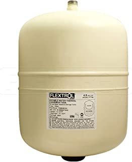 Flextrol FTT12 Thermal Expansion Tanks-for Hot Water Heaters, Carbon Shell, Stainless Steel 3/4 Inch MIP Connection, Butyl Diaphragm, 150 PSI, 210 Degrees Fahrenheit, Almond Color, 4.8 Gallons