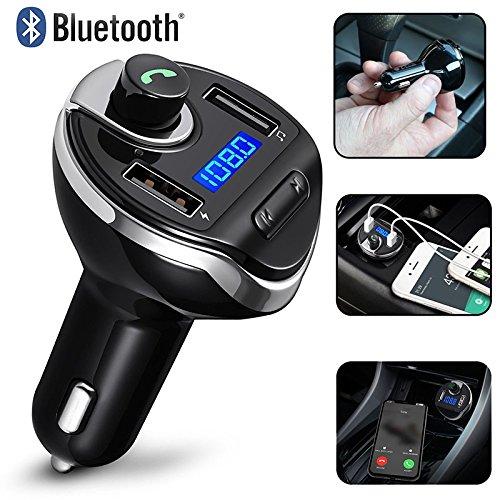 BEESCLOVER Bluetooth Car Kit transmetteur FM sans Fil Radio Mains Libres Adaptateur Chargeur USB