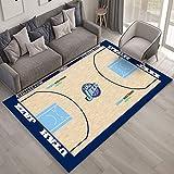 CXJC 16 tipos de patrones Patrón cancha de baloncesto de la NBA Opcional alfombras de piso, suave y cómodo de noche MATS for uso doméstico, dormitorio personalizado decorativo MATS, 0,6 cm de espesor,
