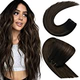 Sunny Sew in Black Hair Extensions Weft Remy Human Hair Off Black...