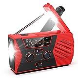 Emergency Radio, Hand Crank Radio with 2000mAh Power Bank, Esky AM/FM/NOAA Weather Radio with Battery Operated, USB & Solar Charging, Headphone Jack, SOS Alarm, LED Flashlight for Outdoor Emergency
