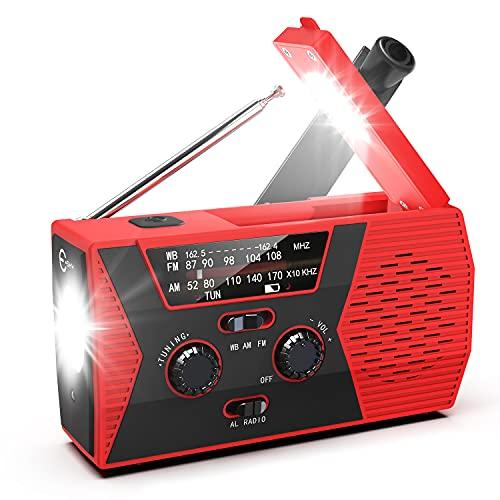 Emergency Radio, Hand Crank Radio with 2000mAh...