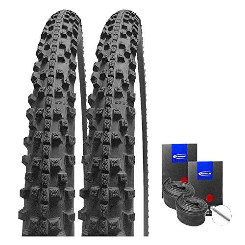 Set: 2 x Schwalbe Smart Sam Plus Pannenschutz Reifen 42-622 / 28x1.60 + Schwalbe SCHLÄUCHE Autoventil