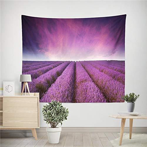 Tapiz de flores de lavanda decoración de impresión estilo mandala tapiz para colgar en la pared familiar toalla de playa tela de fondo a4 180x200cm