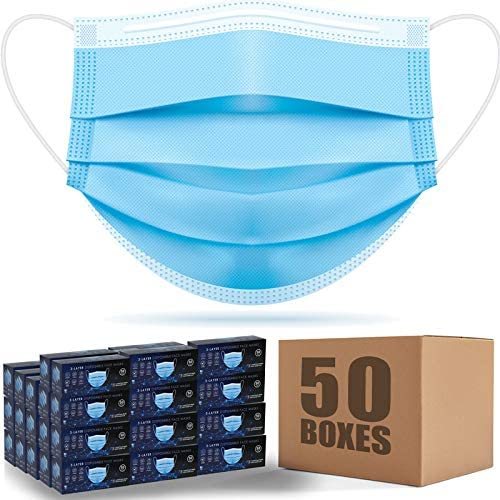 2500PCS Face Mask Disposable blue adult for Bargain home 2021 new office man