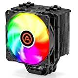 CPU Cooler with 5 Direct Contact Heatpipes, ARESGAME CPU Air Cooler for Intel/AMD with 120mm SYNC ARGB PWM Fan (5V ARGB Header is Required on Motherboard) - River 5