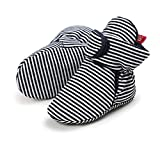 Lacofia Zapatos de calcetín de bebé Invierno Botas Antideslizantes de Suela Blanda para bebé niño o niña Negro 0-6 Meses