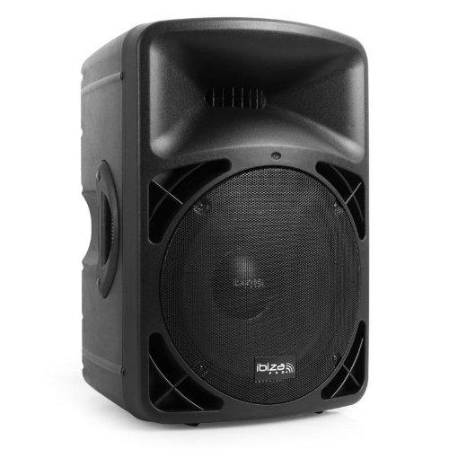 biza Pro15A-BT Sonido Profesional Altavoz autoamplificado DJ 200W RMS aux USB, SD CD, MP3 Bluetooth compatibles Tales como Smartphones, notebooks y Tablets Sección de micrófono Pantalla LCD