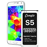 [3850mAh] Galaxy S5 Battery (2021 New Version), Conqto New Upgrade Replacement Battery for Samsung Galaxy S5 EB-BG900BBU...