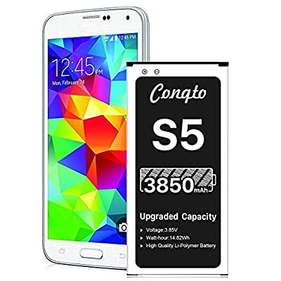 Amazon - Save 5%: [3850mAh] Galaxy S5 Battery (2021 New Version), Conqto New Up…