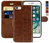 MONASAY iPhone 7 Handytasche/iPhone 8 Handyhülle,4.7 Zoll, [Gratis Panzerglas Schutzfolie] Handyfach Brieftasche Schutzhülle Tasche Flip klappbar Leder Hülle mit Kartenfach für Apple iPhone 7/8
