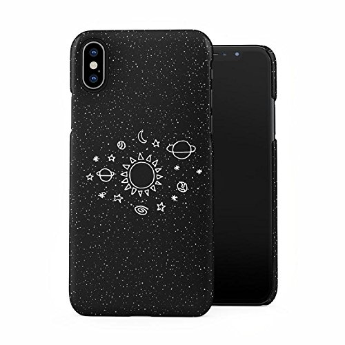 best loved eaef9 ac8fc Space Stars Galaxy Cute Sun Solar System Tumblr Planets Plastic Phone Snap  On Back Case Cover Shell for iPhone X, iPhone Xs