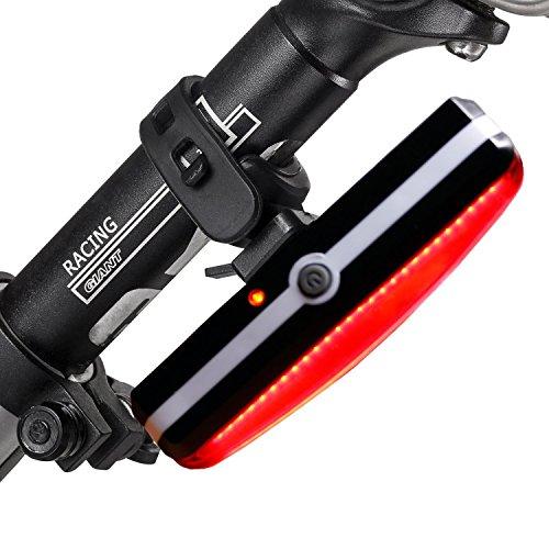 Eximtrade USB Recargable Bicicleta 6 Modos Luz Cola Flash LED Lámpara Luz Alerta Impermeable (Rojo)