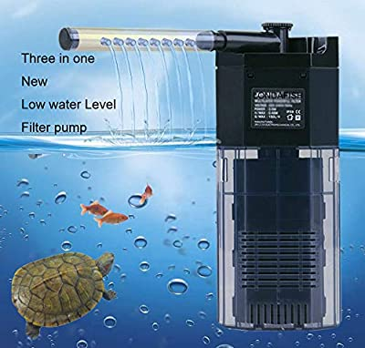 LONDAFISH Quiet Multi-Function Built-in Fish Tank Aquarium 3-Stage Filter with Water Pump