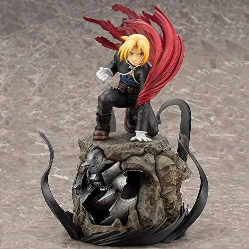 SFRIDQ Anime Fullmetal Alchemist Alphonse Elric Edward Figura Versión Estatua Muñeca Modelo Muñeca Escultura Juguete Decoración Decoración Altura 22 cm