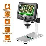 Koolertron デジタル顕微鏡 顕微鏡4.3インチLCDモニター搭載1080P電子顕微鏡 iPhone、Andoird、iPad Mac Windowsと互換性 金属製スタンド付き マイクロスコープ USB顕微鏡