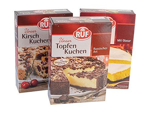 RUF Topseller Torten Premium C: RUF Tarte au Citron 380g, RUF Topfen Kuchen 700g, RUF Kirsch Kuchen 435g