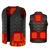 AYAROMA Electric Heated Vest for Men or Women Hunting 5V Heated Jacket USB Charging Washable Adjustable 5 Heating Pads at Abdomen Back and Waist, 3-Gear Temp