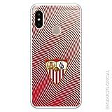 Funda para Xiaomi Mi A2 Lite - Redmi 6 Pro Oficial del Sevilla FC Sevilla Ondas Rojas para Proteger tu móvil. Carcasa para Xiaomi de Silicona Flexible con Licencia Oficial del Sevilla FC.