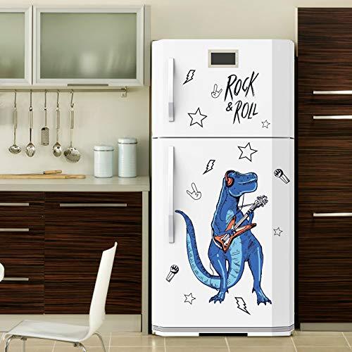 AVANI EXCHANGE SK9361 Rock Roll Dinosaur Etiqueta de la Pared para la habitación de los niños Animales de Dibujos Animados Decoración para el hogar Arte