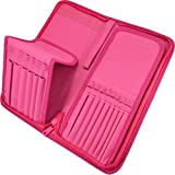 Paint Brush Holder - Organizer for 15 Short Handle Brushes - Storage for Acrylic, Oil & Watercolor Art Paintbrushes - Artists' Quality Supplies by MyArtscape (Hot Pink)