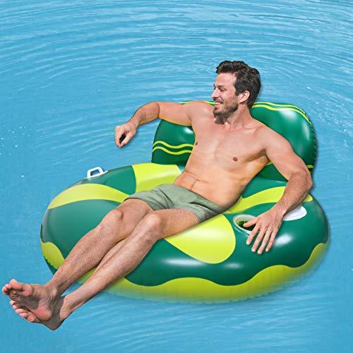 Wasser Hängematte, Aufblasbar Pool Liegestuhl Float Pool Lounge luftmatratze Bett Tragbar Schwimmend mit Netzstoff Pool Spielzeug Pool Zubehör Spaß für Erwachsene und Kinder