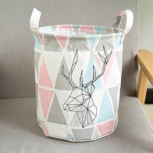 Storage Bins,IEason Foldable MutiColors Storage Bin Closet Toy Box Container Organizer Fabric Basket (A)