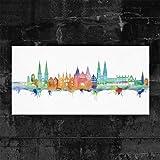 Kunstbruder Lübeck Skyline - Light (Div. Grössen) - Kunst