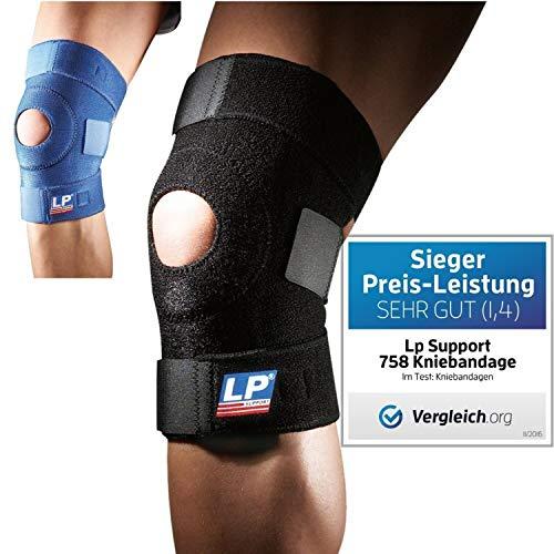 LP Support 758 Kniebandage - Kniegelenkstütze - Knieschoner - Knieschutz - Kniestütze - Sportbandage, Größe:Universalgröße, Farbe:blau