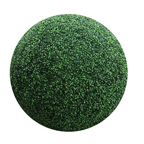 Topker Simular la Planta Verde Hierba de Bolas Pastos Artificiales Fake Plastic Flowers Inicio la decoración del jardín