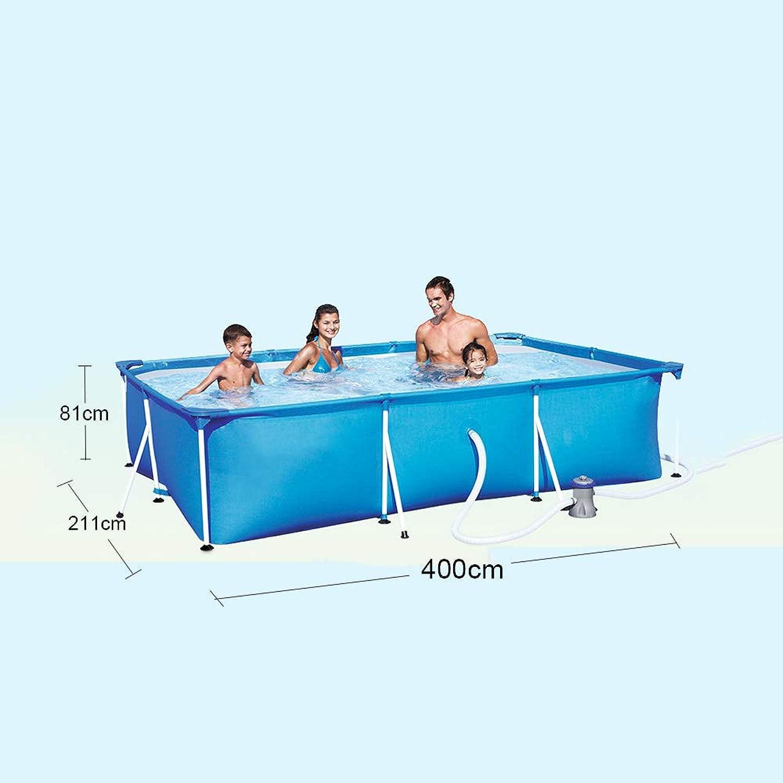 Rahmen Pool Planschbecken Schwimmen Bad Wanne Groe Faltbare Kinder Kid Ball Wasser Teiche 400  211  81 cm