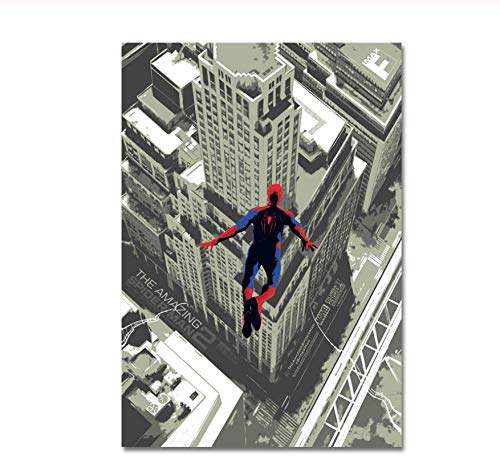 ACUOHU Cuadro En Lienzo Spiderman Poster The Amazing Spider-Man 2 Poster Prints Wall Pictures Home Decor Artwork Cuadro Sin Marco A390 (40X60Cm)