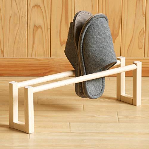 木製スリッパラック【1段】 (ナチュラル)